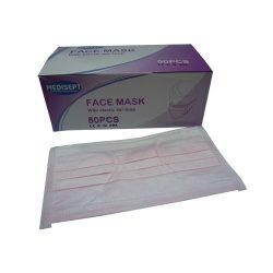 mondmaskers 3-laags roze met elastieken