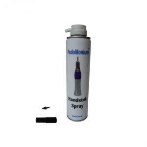 spuitbus handstukspray voor onderhoud voorhandstuk van podomonium pedicuremotor